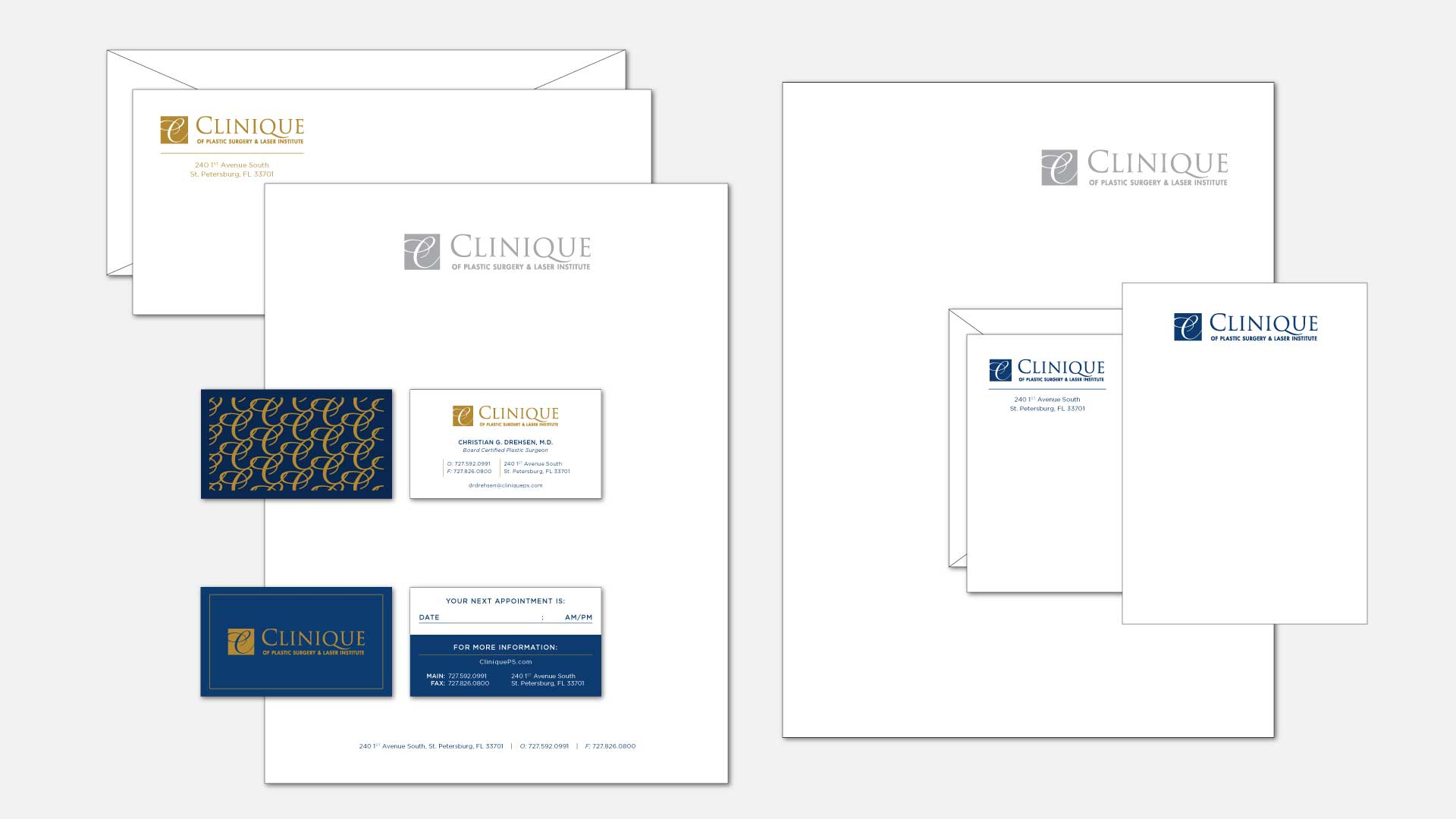 Clinique of Plastic Surgery and Laser Institute - Brand Identity